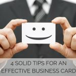 4 Solid Tips for an Effective Business Card